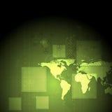 Fundo verde abstrato do vetor da olá!-tecnologia Foto de Stock Royalty Free