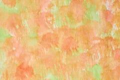 Fundo verde alaranjado da aquarela Imagem de Stock Royalty Free