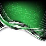 Fundo verde alta tecnologia Imagens de Stock Royalty Free