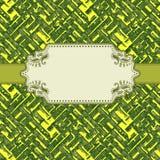 Fundo verde-amarelo Imagens de Stock