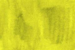 Fundo verde-amarelo da aquarela pronto para imprimir o fundo grande Foto de Stock
