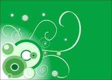 Fundo verde (círculo) ilustração do vetor
