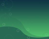 Fundo verde com bolhas ilustração stock