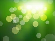 Fundo verde com efeito do bokeh ilustração stock