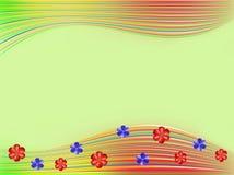 Fundo verde com flores Foto de Stock Royalty Free