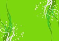 Fundo verde com flores Fotografia de Stock Royalty Free