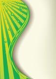 Fundo verde com gotas Foto de Stock Royalty Free