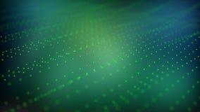 Fundo verde com partículas moventes ilustração royalty free