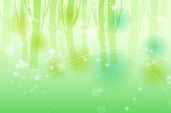 Fundo verde da árvore ilustração do vetor