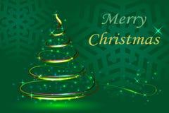 Fundo verde da abstração, abeto festivo do Natal, YE novo Imagem de Stock Royalty Free