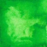 Fundo verde da aguarela Fotos de Stock