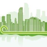 Fundo verde da cidade Imagens de Stock Royalty Free