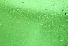 Fundo verde da gota da água Fotografia de Stock