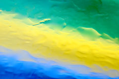 Fundo verde da gota da água amarela e azul Foto de Stock Royalty Free