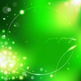 Fundo verde da mola Fotos de Stock