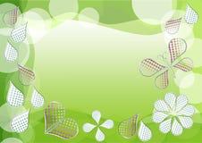 Fundo verde da mola com morphing gotas pontilhadas ilustração stock