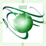 Fundo verde da onda de Vector_Green do fundo do negócio imagem de stock