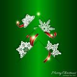 Fundo verde da árvore de Natal Fotos de Stock Royalty Free