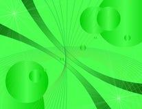 Fundo verde da tecnologia Fotografia de Stock