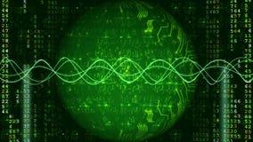 Fundo verde da tecnologia de Digitas da rede video estoque