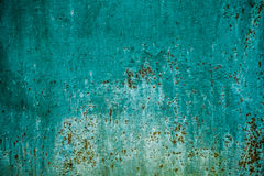 Fundo verde da textura da parede com oxidação fotos de stock royalty free
