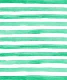 Fundo verde das listras da aquarela Imagens de Stock Royalty Free