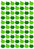 Fundo verde das maçãs Fotos de Stock