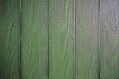 Fundo verde de madeira Imagem de Stock