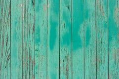 Fundo verde de madeira velho e resistido com espaço da cópia Fundo de madeira ciano com espaço vazio para seu texto De madeira ve imagem de stock royalty free