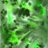 Fundo verde desenhado à mão da aquarela ilustração stock