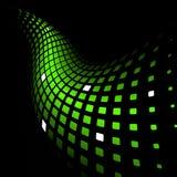 Fundo verde dinâmico abstrato Fotos de Stock Royalty Free