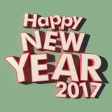 Fundo verde do ano novo feliz 2017 Foto de Stock
