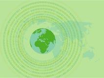 Fundo verde do computador Imagem de Stock Royalty Free