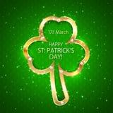 Fundo verde do dia de Patricks com trevo Imagem de Stock