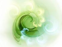 Fundo verde do fractal ilustração do vetor
