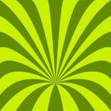 Fundo verde do funil - vector o projeto dos raios curvados Fotografia de Stock Royalty Free