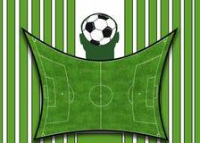 Fundo verde do futebol Fotografia de Stock