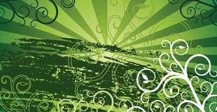 Fundo verde do grunge Imagem de Stock