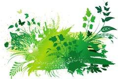 Fundo verde do grunge ilustração royalty free