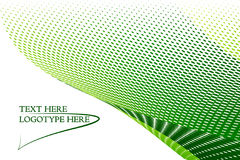 Fundo verde do logotipo Fotografia de Stock