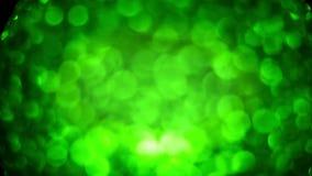 Fundo verde do movimento das esferas vídeos de arquivo
