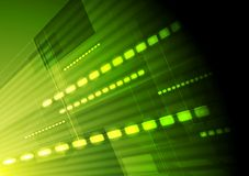Fundo verde do movimento do vetor da olá!-tecnologia Fotos de Stock