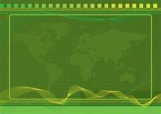 Fundo verde do mundo com efeitos de intervalo mínimo Imagem de Stock