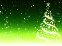 Fundo verde do Natal Fotos de Stock Royalty Free