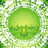 Fundo verde do Natal Fotografia de Stock