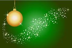 Fundo verde do Natal Imagens de Stock