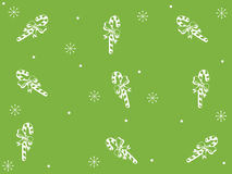 Fundo verde do Natal com flocos de neve Fotografia de Stock Royalty Free