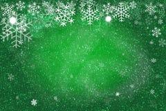 Fundo verde do Natal Formato da ilustração Conceito do feriado Imagem de Stock