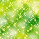 Fundo verde do partido das estrelas Imagens de Stock