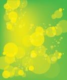 Fundo verde do vetor com bolha amarela Ilustração do Vetor